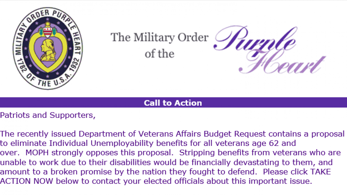 Bipartisan letter opposing Trump Budget cuts for veterans ...